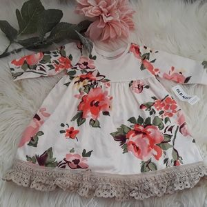 (OLD NAVY) NEW 0-3 Baby Girl Floral Dress NWT